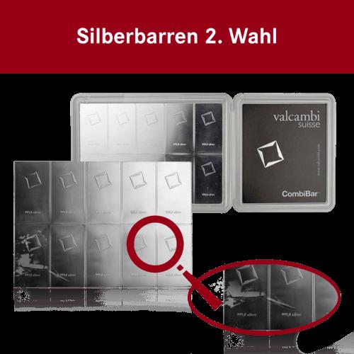 10 x 10g Combibar Silbertafel | Silbertafel 10 x 10g Combibar 2. Wahl