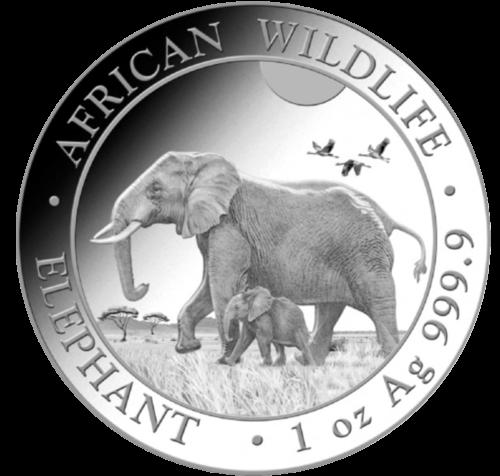 1 Unze Silber Somalia Elefant 2022