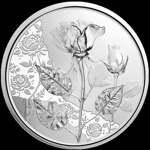 10 Euro Silber Sammlermünze Mit der Sprache der Blumen Rose 2021