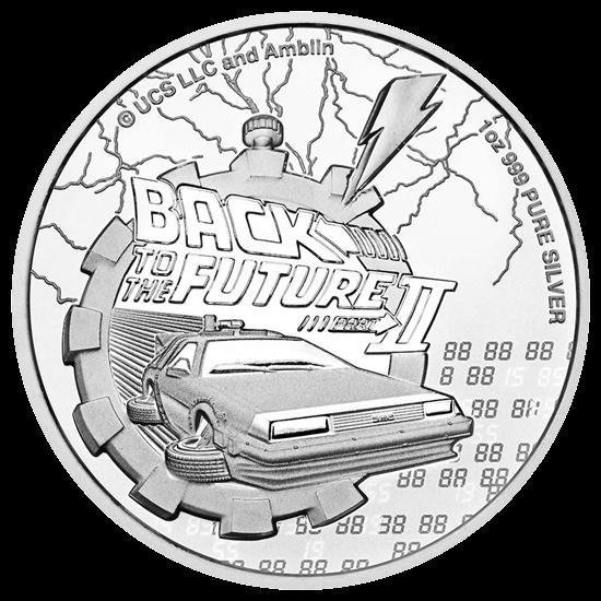 1 Unze Silber Zurück in die Zukunft II 2021