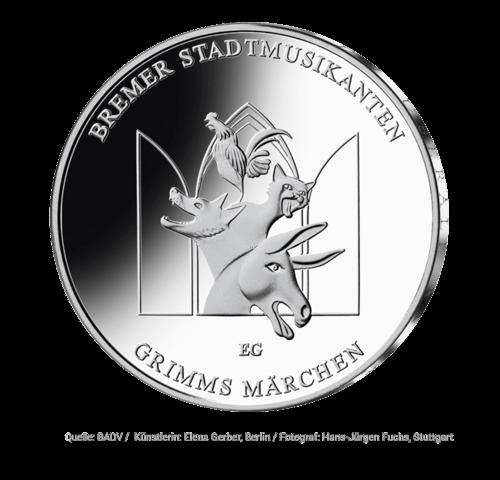 20 Euro Gedenkmünze Bremer Stadtmusikanten 2017