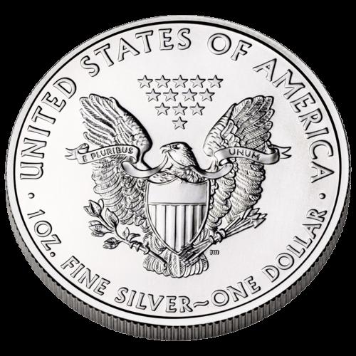 Rückseite der 1 Unze Silbermünze American Eagle | Rückseite der Silbermünze 1 Unze American Eagle von The United States Mint