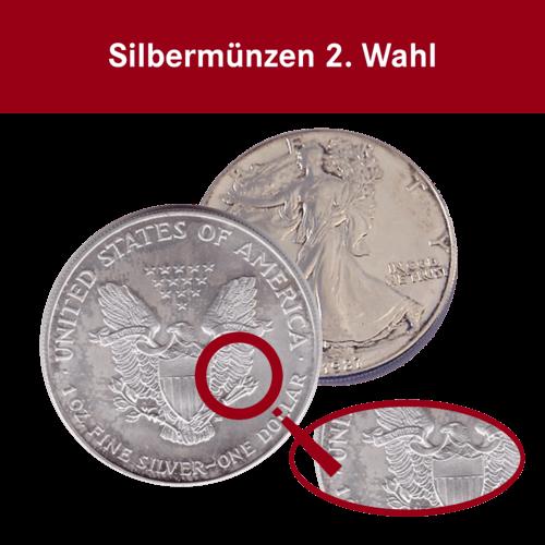 Vorderseite der 1 Unze Silbermünze American Eagle | Vorderseite der Silbermünze 1 Unze American Eagle von The United States Mint 2. Wahl