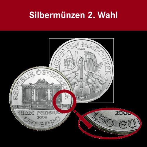 1 Unze Silber Wiener Philharmoniker (2. Wahl)