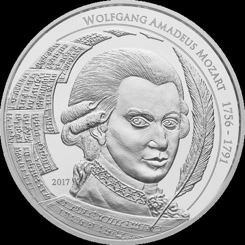 1 Unze Silber Mozart 2017
