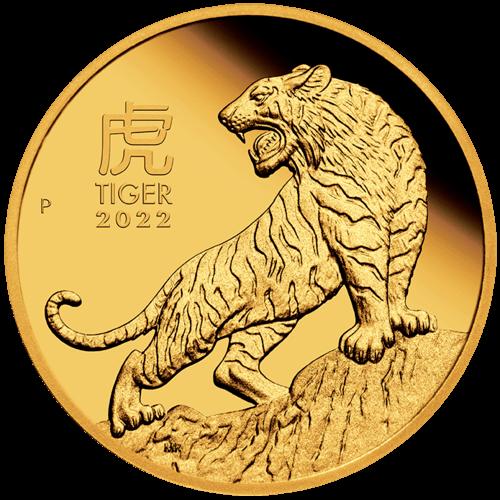 1/4 Unze Gold Lunar III Tiger 2022