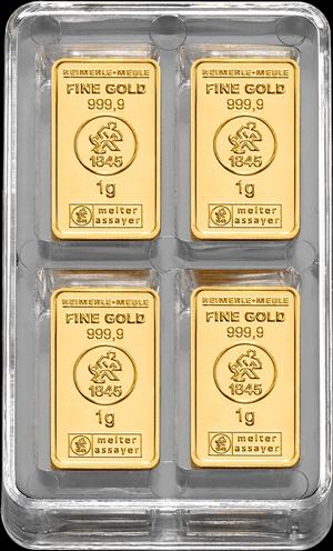 100 x 1 g Gold UnityBox S Heimerle und Meule
