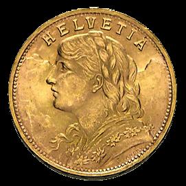Vorderseite Goldmünze 5,81g Gold Vreneli 20 Franken | Vorderseite Vreneli Goldmünze 5,81 von Eidgenössische Münzstätte Bern