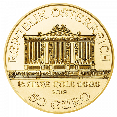 1/2 Unze Gold Wiener Philharmoniker 2021 (lagernd Frankfurt)