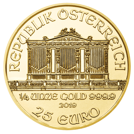1/4 Unze Gold Wiener Philharmoniker 2020 (lagernd Frankfurt)