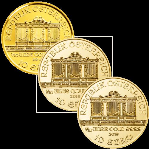 1/10 Unze Silbermünze Wiener Philharmoniker | Vorderseite der Silbermünze 1/10 Unze Wiener Philharmoniker von Münze Österreich